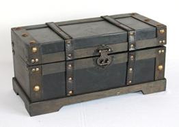 Holz- Kunstleder - Box, Antikdesign Nr. 974, Geschenkekiste, Schmuckkiste, ca. 37 x 18 x 17 cm -