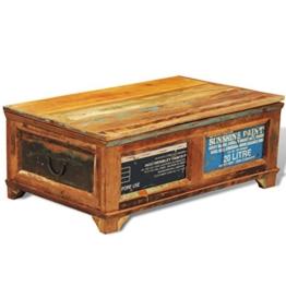 vidaXL Couchtisch Beistelltisch Aufbewahrungsbox Vintage Retro -