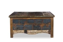 Woodkings® Couchtisch Truhe Wakefield 90x90cm, recyceltes Massivholz antik, Truhentisch vintage, Design Kiste mit Staufunktion, exclusiv, günstig, coffee table storage -