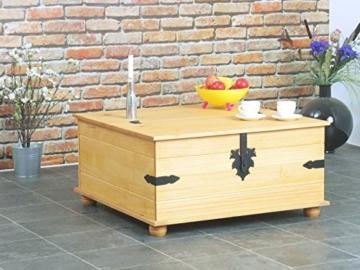 Kiefer Truhentisch New Mexico Wohnzimmer Couchtisch Wohnzimmertisch Tisch massiv -