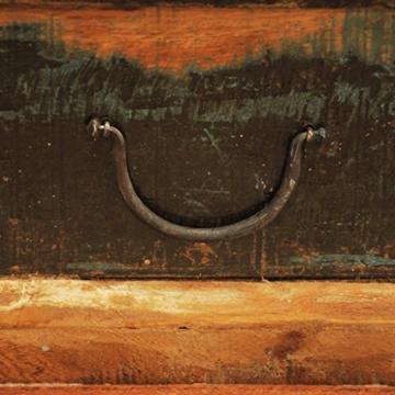 vidaXL Antik Teak Massivholz Aufbewahrung Box Couchtisch Truhe Shabby Vintage Retro -