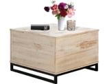 Weiß gewischt Truhentisch SATURN Breite 75 cm Massivholz. In zwei Farben erhältlich: braun gewischt und weiß gewischt -